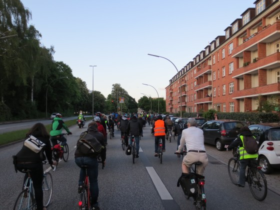 Ride of Silence in Hamburg, 20. Mai 2015